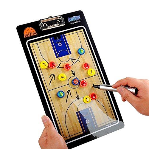 HUYUHAN Junta magnética de entrenamiento con piezas de marcador y goma de borrar,para baloncesto,entrenador de fútbol,entrenador de fútbol y baloncesto escolar,entrenador de fútbol (baloncesto)
