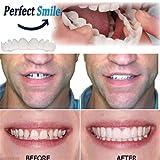JUTHREE Aparatos ortopédicos Chapa cosmética Reutilizable Adulto dentadura...