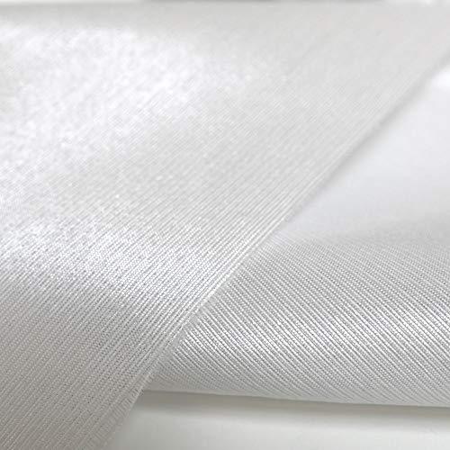TOLKO Deko-Stoffe Meterware als Gardinenstoff/Vorhang-Stoff | 240 cm breit | für preiswerte Gardine Vorhang Sonnenschutz Beschattung zum Nähen (Breite: 240 cm | Weiß Glanz)
