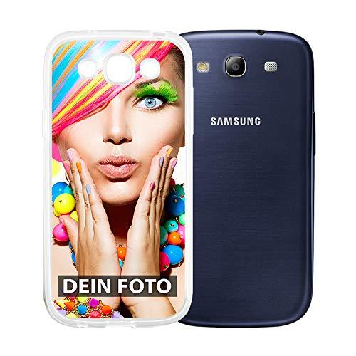 dP deinPhone Samsung Galaxy S3 - Handyhülle - Selbst gestalten/Individuell bedruckbar/eigenem Foto oder Text/Silikonhülle Transparent
