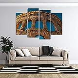 KOPASD Art Enlienzo Póster Arena de gladiadores 4 Piezas Pared Mural para Decoracion Cuadros Modernos Salon Dormitorio Comedor Cuadro Impresión Piezasmaterial
