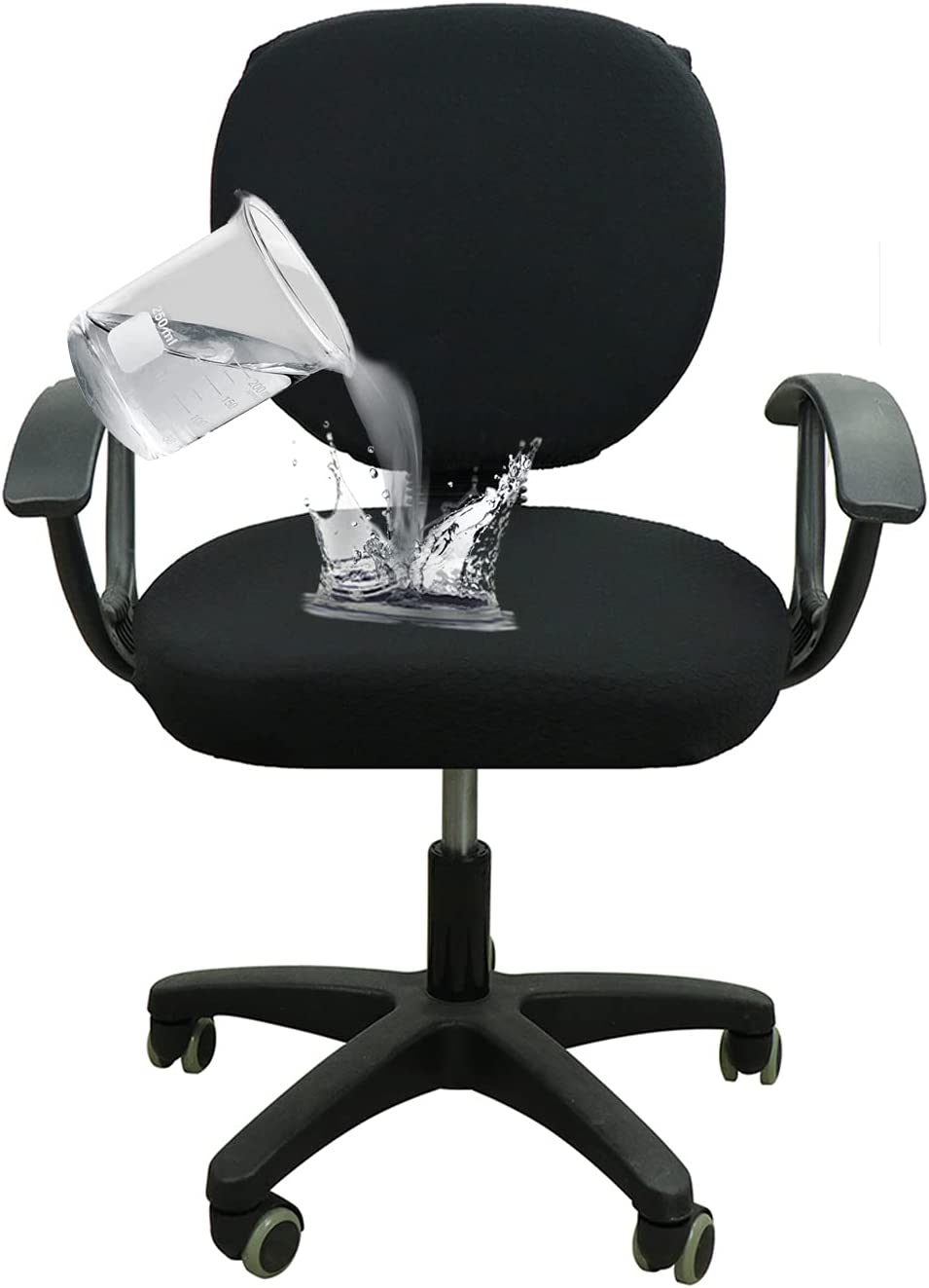YIMEIS Waterproof Sale price Office Chair Computer Stretch New Orleans Mall Cover Jacquard