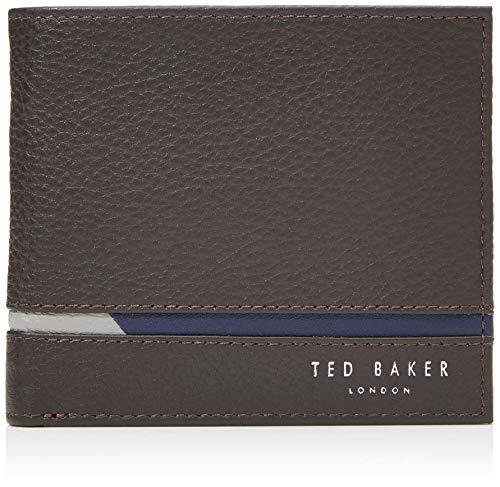 Ted Baker SAILBOT, Accessori da viaggio- Portafoglio bi-fold Uomo, Brn-choc, Taglia unica