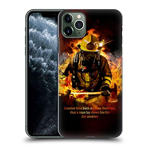 Head Case Designs Officially Licensed Jason Bullard Fireman 2 Firefighter Hard Back Case Compatible with Apple iPhone 11 Pro Max