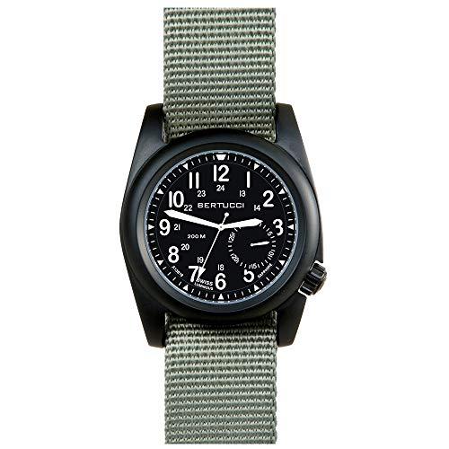 Bertucci A-2S Ballista 11085 Mens Defender Drab Nylon Band Matte Black Quartz Dial Watch