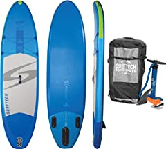 SPECS - 10-FEET x 32-INCHES x 6 INCHES | Board Weight: 25 Lbs. | Supports Riders up to 250 lbs. BEST ALL AROUND ISUP - Stable Shape suitable for All Skill Levels Riding on Lakes, Rivers, and Open Ocean. INCLUDES - Travel Backpack, Center Fin, High Pr...