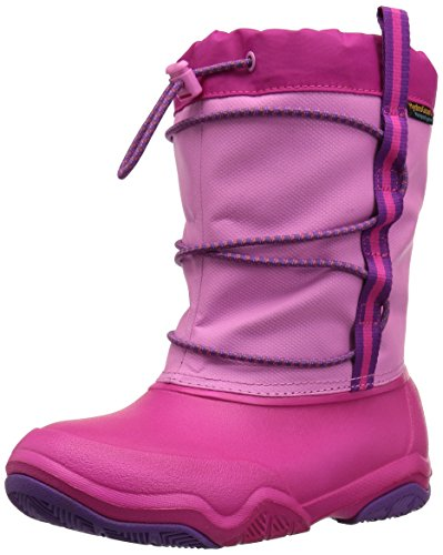 Crocs Swiftwater Waterproof Boot Kids Party Rose Fonce/Candy Rose Fonce Croslite