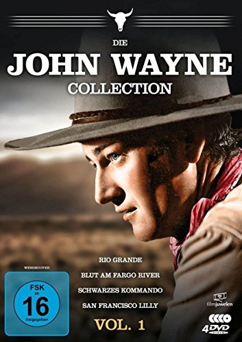 Die John Wayne Collection - Vol. 1 (Rio Grande / Blut am Fargo River / Schwarzes Kommando / San Francisco Lilly) [4 DVDs]
