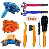 ZHANGSAN Kit de Herramientas para Limpieza de Bicicletas,Juego de Herramientas para Cepillo de Limpieza de Cadena,Adecuado para Rust Blot Dirt Clean,Set de 9 Piezas