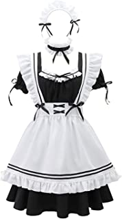 THAT NIGHT Womens Maid Kostuum Japanse Cosplay Maid Uniform,Leuke Lolita Plus Size Meid Outfit,Sexy Womens Gangster Suit