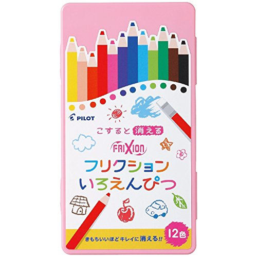Pilot Frixion Eraseable Colored Pencil 12 Colors with Exclusive Pen Case