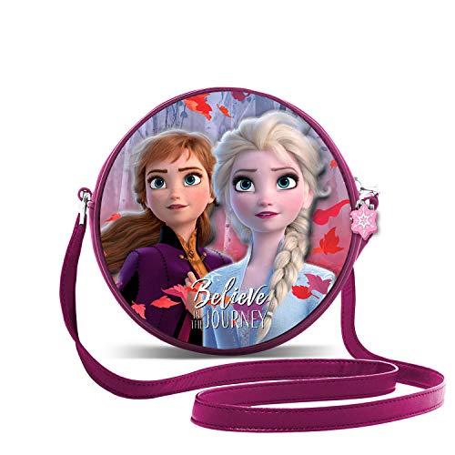 KARACTERMANIA Die Eiskönigin (Frozen) Believe-3D Runde Schultertasche