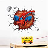 Spiderman Dessin Animé Film Hreo Maison Sticker Mural Autocollant 3D Pour La Chambre Des Enfants Room Decor Enfant...