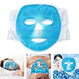 Funwill, maschera facciale refrigerante,confezione di gel per mal di testa, pelle, sonno e...