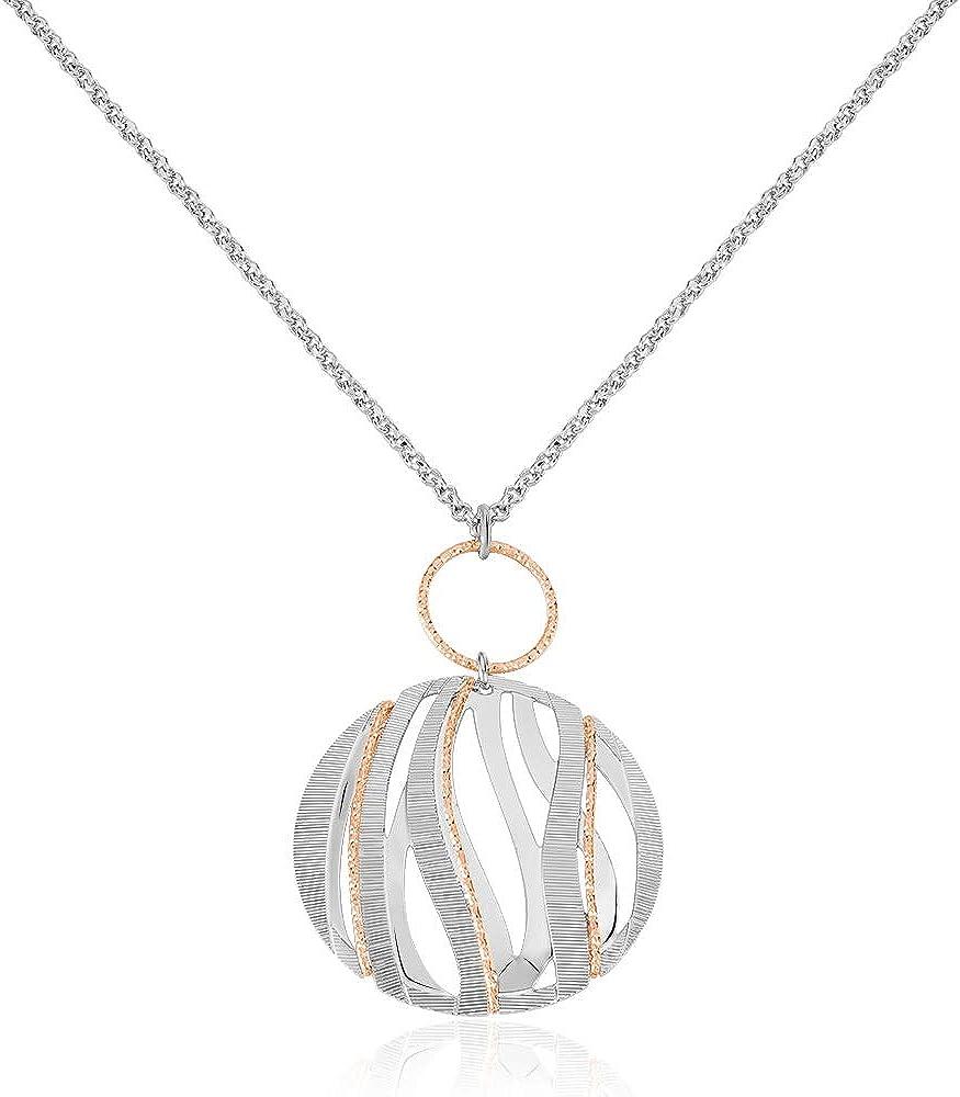 Stroili ,collana  per donna ,in bronzo bicolore 1661043