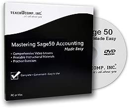 $21 » Mastering Sage 50 Made Easy v. 2018 (U.S. Version) Video Training Tutorial DVD-ROM Course