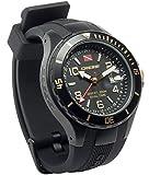 Cressi Traveller Dual Time Reloj Submarino, Unisex Adulto, Negro/Plateado, Talla Única