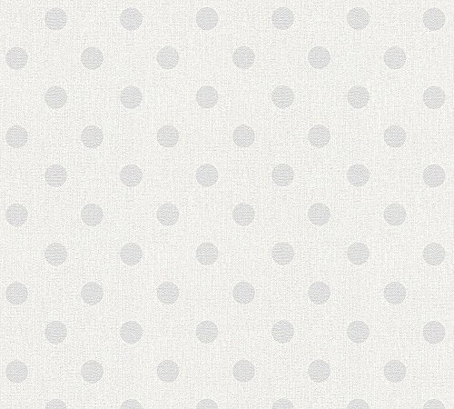 A.S. Création Vliestapete Elegance 5th Avenue Tapete gepunktet 10,05 m x 0,53 m creme grau weiß Made in Germany 361482 36148-2