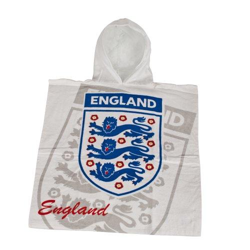 England Classic Hooded Poncho, White