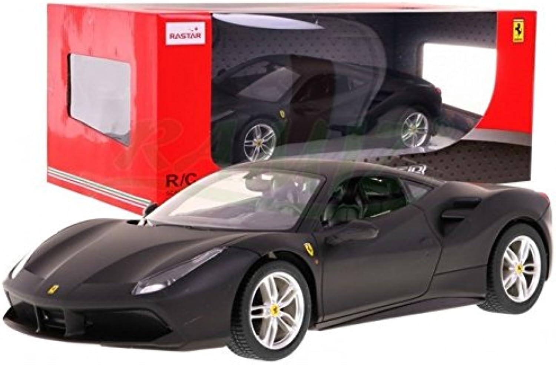 RASTAR RC Car Remote Control Car Ferrari 488 GTB 1 14 Black