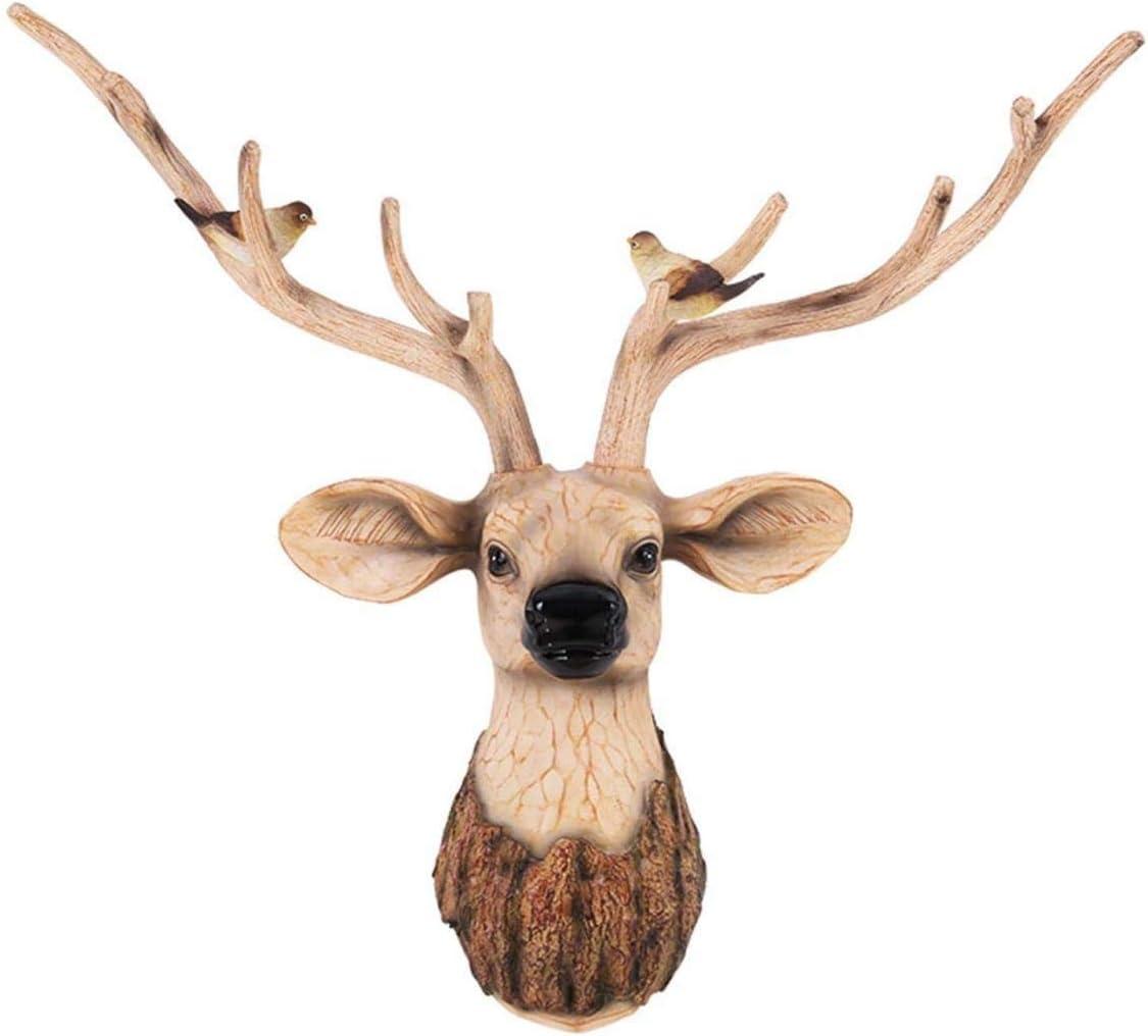 Popular brand LQX Sculpture Max 60% OFF Creative Resin Deer Decoration Statue Head Animal