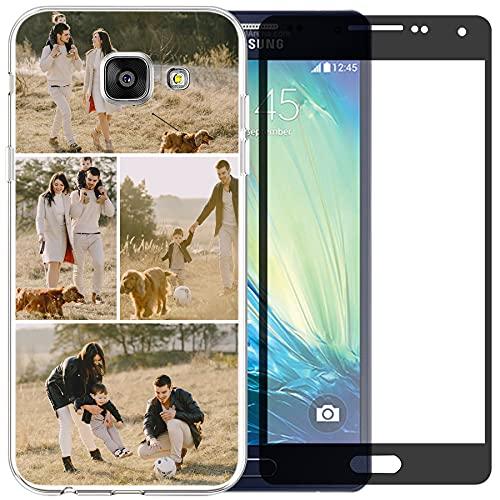 Funda de teléfono compatible con Samsung Galaxy A5 2016 (Clear Layuot 4 imágenes)