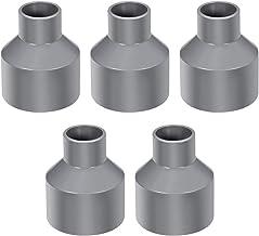 20mm montaje de tuberías de PVC Slip Tee T-adaptador de acoplamiento en forma Gris 5 piezas