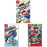Super Mario Odyssey + Super Mario Party + Pokémon Espada (Nintendo Switch)
