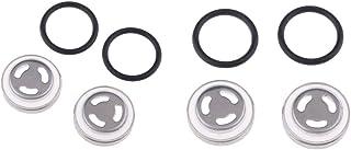 KESOTO 4X Motorrad Metall Schauglas Set Ölschauglas Dichtungen für Hauptbremszylinder, Φ18mm