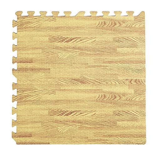 YOUR SELF SRL Alfombra puzzle teca paquete de 4 unidades 60 x 60 x 0,8 cm
