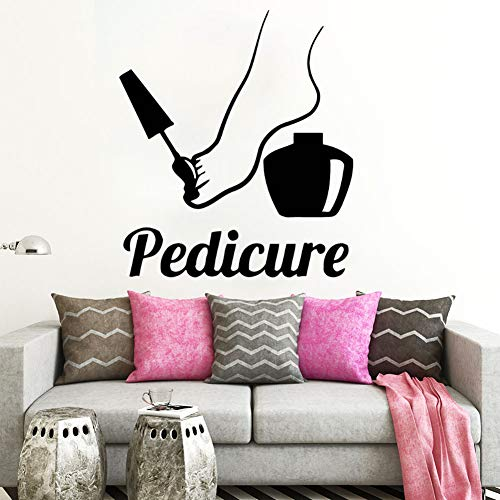 jiuyaomai Pediküre Logo Wandaufkleber Fußpflege Center Dekoration Nägel PolishDecal Pediküre Fensteraufkleber Nail Salon Decor 57x65cm