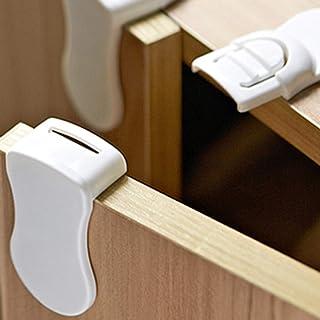 Kit de 6 S/écurit/é b/éb/é et enfant Rose Verrous pour armoire//Bloque portes placard