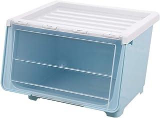 Boîte de rangement XIAOXIAO Avant Ouverte Boîte en Plastique Transparente pour Jouets en Plastique À La Bouche pour Jouets...