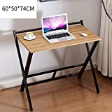 Oanzryybz Folding Computer <span class='highlight'>Desk</span> with Metal Frame Modern <span class='highlight'>Home</span> <span class='highlight'>Office</span> Laptop PC Workstation Compact Study Writing Reading Table for Small Space Folding Table (Size : 60cm)