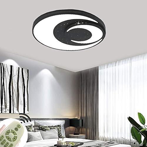 LED Lampe Kinderzimmer Sterne Mond 72W Dimmbar mit Fernbedienung Kinder Deckenlicht für Schlafzimmer Wohnzimmer (Ø600x60mm 72W-Dimmbar)