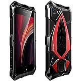 MOSSTAR Funda iPhone SE 2020/iPhone 8 4.7''/iPhone 7, Antigolpes Metal Estuche Protectora,Rugged Armour, Absorción de Choque y Duradera Protección de 360 Grados Full Body Carcasa,Rojo