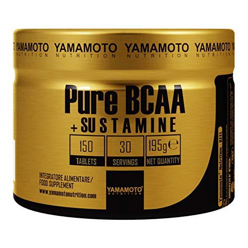 Yamamoto Nutrition Bcaa 8:1:1 integratore alimentare di aminoacidi a catena ramificata con vitamine B1 e B6 (Pure Bcaa Sustamine 150 cps)