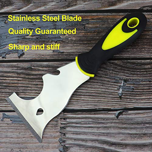 2PCS 9 IN 1 Painter Tools, Stainless Steel Multi-Use Putty Knife, Screwdriver, Gouger, Scraper, Nail Puller, Can Opener, Roller Cleaner, No Rust Painter's Tool