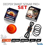 Deeper Smart Sonar Pro+ Plus Set Night Fishing Cover & Smartphone Halterung