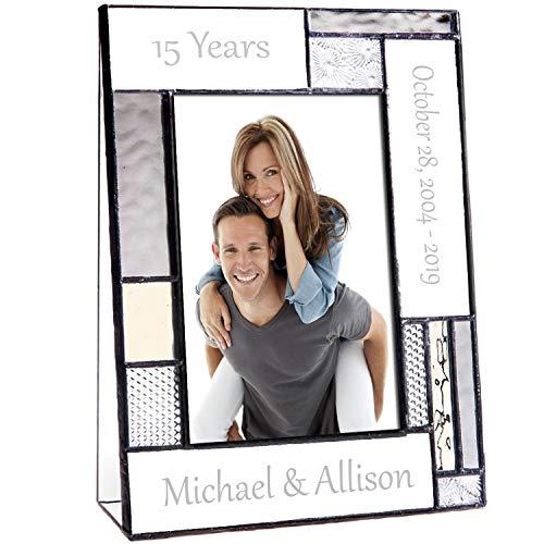 Engraved Glass Anniversary Frame