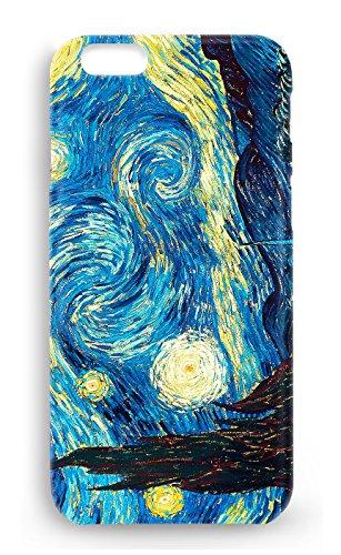 Protector Cristal Templado + Carcasa Van Gogh para Samsung Galaxy S6 Edge Plus plástico rígido