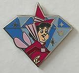 Disney Pin 112039 DLR - 2015 Hidden Mickey Diamond Characters - Flora PIn Sleeping Beauty Fairy Pin DIsneyland 60th Anniversary Diamond Celebration