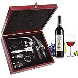 Sacacorchos, Smaier Kit de Abridor de vino de Sacacorchos de Vino de Acero Inoxidable Aerator Juego de Regalo de Abridor de Botella con Estuche de Madera