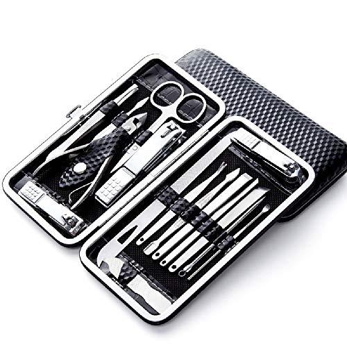 Trousse Manucure Coupe Ongle Manucure Pédicure Set Ongle Set De Ciseaux À Ongles Sharp Set 16 Pcs