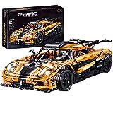 MAZOZ Technik Bausteine Auto Koenigsegg, 3055Teile 1:8 Racing Auto Technic Bausteine Konstruktionsspielzeug Kompatibel mit Lego