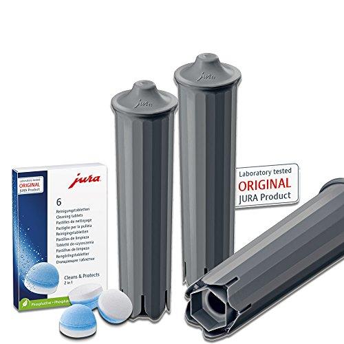 3 Jura Claris SMART waterfilter / 1 x 6 Jura reinigingsstaaf
