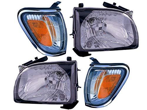 Headlight Signal Lamp Combination Set for 2001 - 2004 Tacoma Pickup Pair