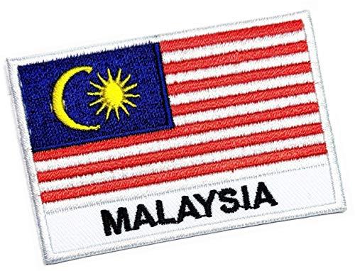ONCEX Malaysia-Flagge, taktischer Aufnäher, Stolz, Flagge, für Kleidung, Hut, Militär, Flicken der Weltflagge, Applikationen, Maschinenstickerei, Nadel, Handwerksprojekte (4,3 x 6,6 cm)