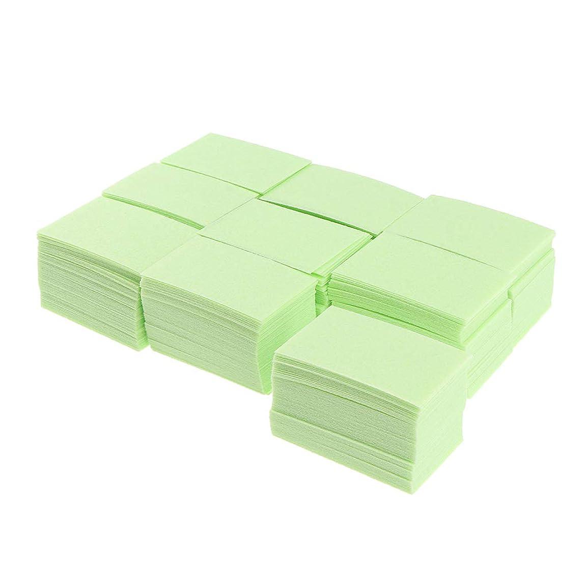マスク作詞家厚くするB Blesiya 約700枚 ネイルポリッシュリムーバー 綿パッド ネイルアート マニキュア 2色選べ - 緑