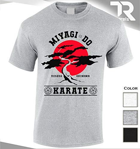 SONIRY New Miyagi Do Karate Bonsai-Baum-T-Shirt Karate Kid Martial Arts Japan Kämpfer: Dunkelgrau, L